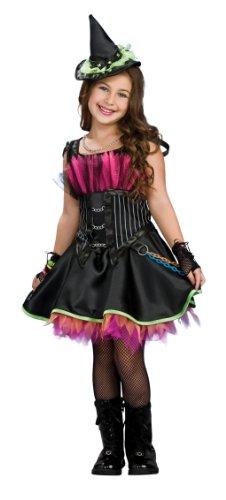 Disfraz de Bruja Rockera con corset para niña, infantil 8-10 años (Rubie