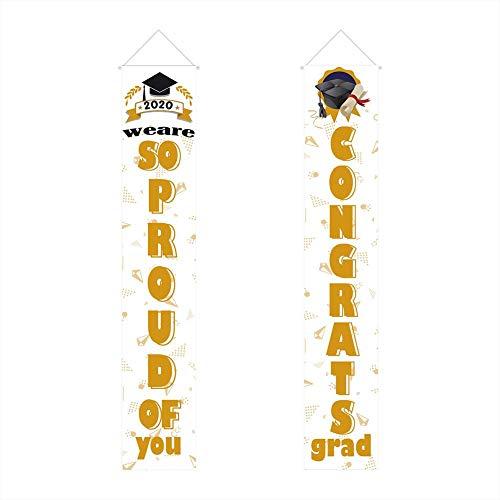 Graduation Dekorationen - Überprüfen Sie Plaid Banner Veranda Zeichen Garten Flaggen-Rustikales Dekor Outdoor Indoor Für Zuhause Bauernhaus Klassenzimmer Tür Fenster Wand Garten Garten Party