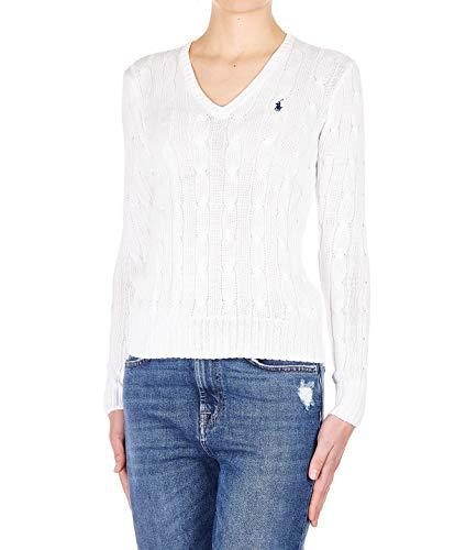 Luxury Fashion | Ralph Lauren Dames 211580008005 Wit Katoen Truien | Seizoen Permanent
