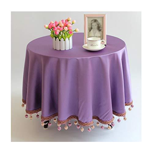Tafelbekleding, rond, chenille-stof, effen, mok, tafelbekleding, ideaal voor avondeten in de vorm van een dressoir op vakantie, bruiloft en meer 4 kleuren Round-180cm B