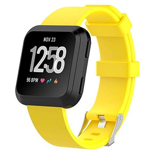 Bas Bandas y Correas compatibles con Fitbit Versa 2 Correa de Repuesto para Reloj de Pulsera, Color Amarillo