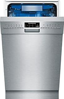Siemens iQ500 SR456S01TE lavavajilla Semi-incorporado 10 cubiertos A+++ - Lavavajillas (Semi-incorporado, Acero inoxidable, Estrecho (45 cm), Acero inoxidable, Botones, Zeolita)