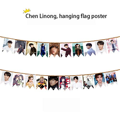 JUE Star Opknoping Vlag Bunting Poster, Student Dormitory Decoratief Behang, Boxed Poster 10 Vellen Bevat Hennep touw, Venue Layout Props, Behang Poster A