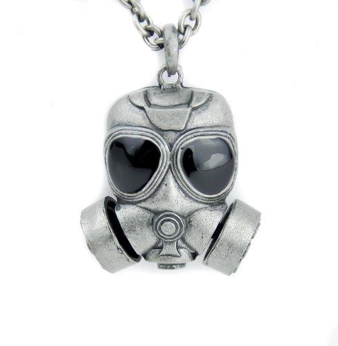 Black Ops Gas Mask Necklace Bio Hazard Cyber Pendant