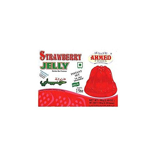Ahmed - Götterspeise/Gelee mit Geschmacksrichtung Erdbeere - 3 x 85 g