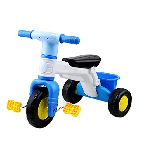 GPWDSN Upgrade Triciclo Trike Trike Triciclo para niños, Bicicleta de Tres Ruedas de plástico Verde, Triciclo para Exteriores para bebés de 3 a 6 años, diseño de Cesta de Almacenamiento Grande, 2 c