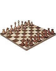 Umbra Wobble Chess Set, Brown