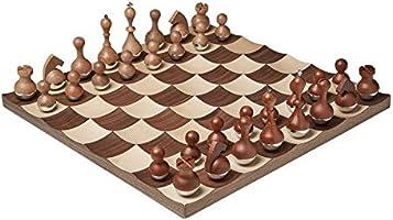 Umbra 377601-656 Wobble Chess Set Walnut
