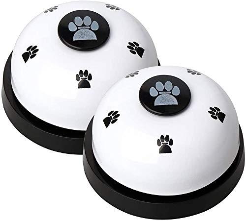 N\C 2 Piezas Campana de Metal para Perros, Timbre de Entrenamiento de Mascotas para Cachorros/Alimentación Interactiva de Juguetes,Juguetes Educativos para Gatos y Perros,