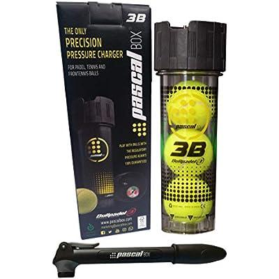 PASCAL BOX 3B - El único Sistema Inflador Completo y de Alta Precisión para pelotas de pádel, tenis y frontenis. Juega con pelotas con bote perfecto durante toda su vida útil real. Disfruta, ahorra, protege el medio ambiente y evita lesiones.