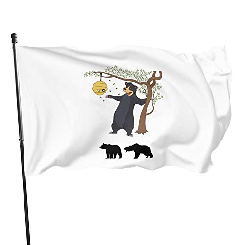 wushang Big Bear Cub Garden Flag Outdoor Flag Indoor Home Decor Banner Foot Flag Farm Banner 3X5 Ft