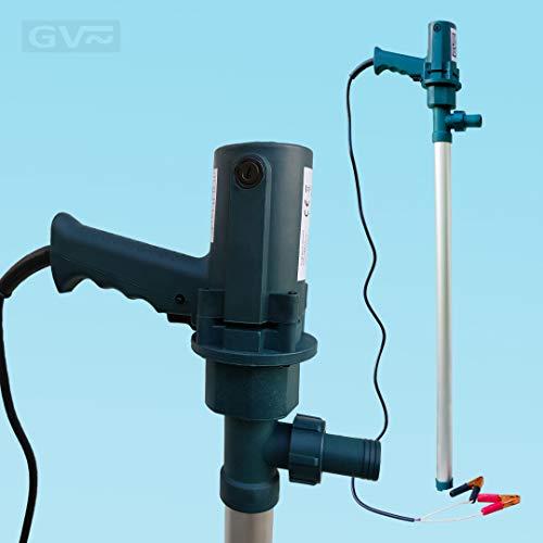 GV Pumpentechnik Fasspumpe DFP380-12 für Diesel, Heizöl, Adblue und Wasser - 380W - 100 l/min - 6000 l/h - Aluminium Saugstab - 100% selbstansaugend