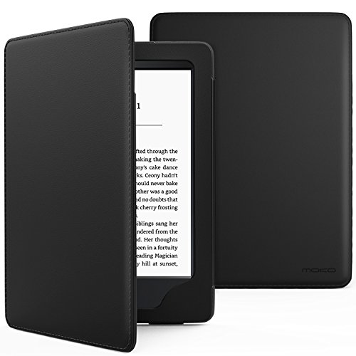 MoKo Case for Kindle Paperwhite, Premium Cover with Auto Wake/Sleep Fits All Paperwhite Generations Prior to 2018(Will not fit All-New Paperwhite 10th Generation), Black