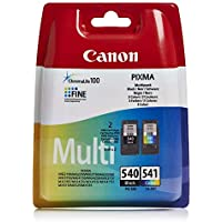 Canon PG-540+CL-541 Cartuchos de tinta original Negro y Tricolor para Impresora de Inyeccion de tinta Pixma TS5150,5051-MX375,395,435,455,475,515,525,535-MG2150,2250,3150,3250,3550,3650,4150,4250