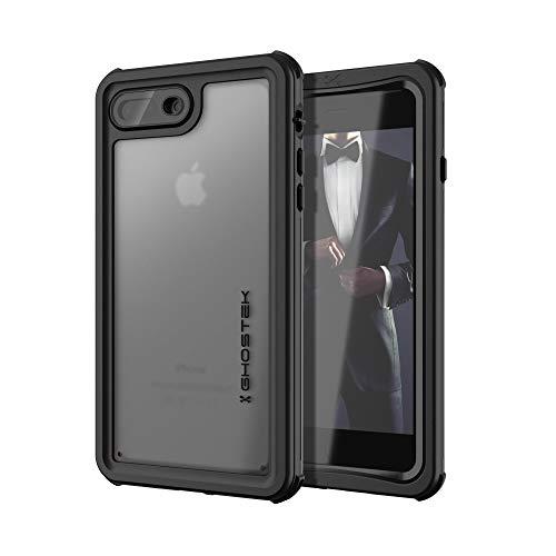 ゴーステックIP68防水防塵タフネスケースノーティカルforiPhone8Plus/7PlusブラックGHOCAS834