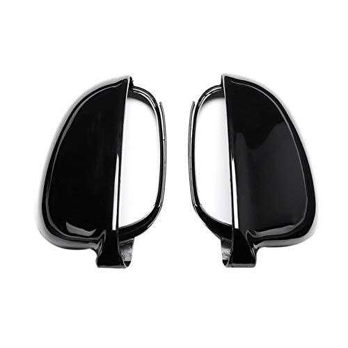 zhuzhu 1 Par De 1 Par Negra Retrovisor ala Espejo Cubierta Cubierta para Volkswagen Ajuste para-VW Jetta Golf Mk5 EOS Par De ala Delantera Lateral Espejo Cubierta Cáscara (Color : Black)