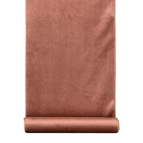 Unbekannt 1 Rolle SAMT (Dekostoff z.B. Tischläufer, Tischband) 35cm/1,8m (Altrosa -13)