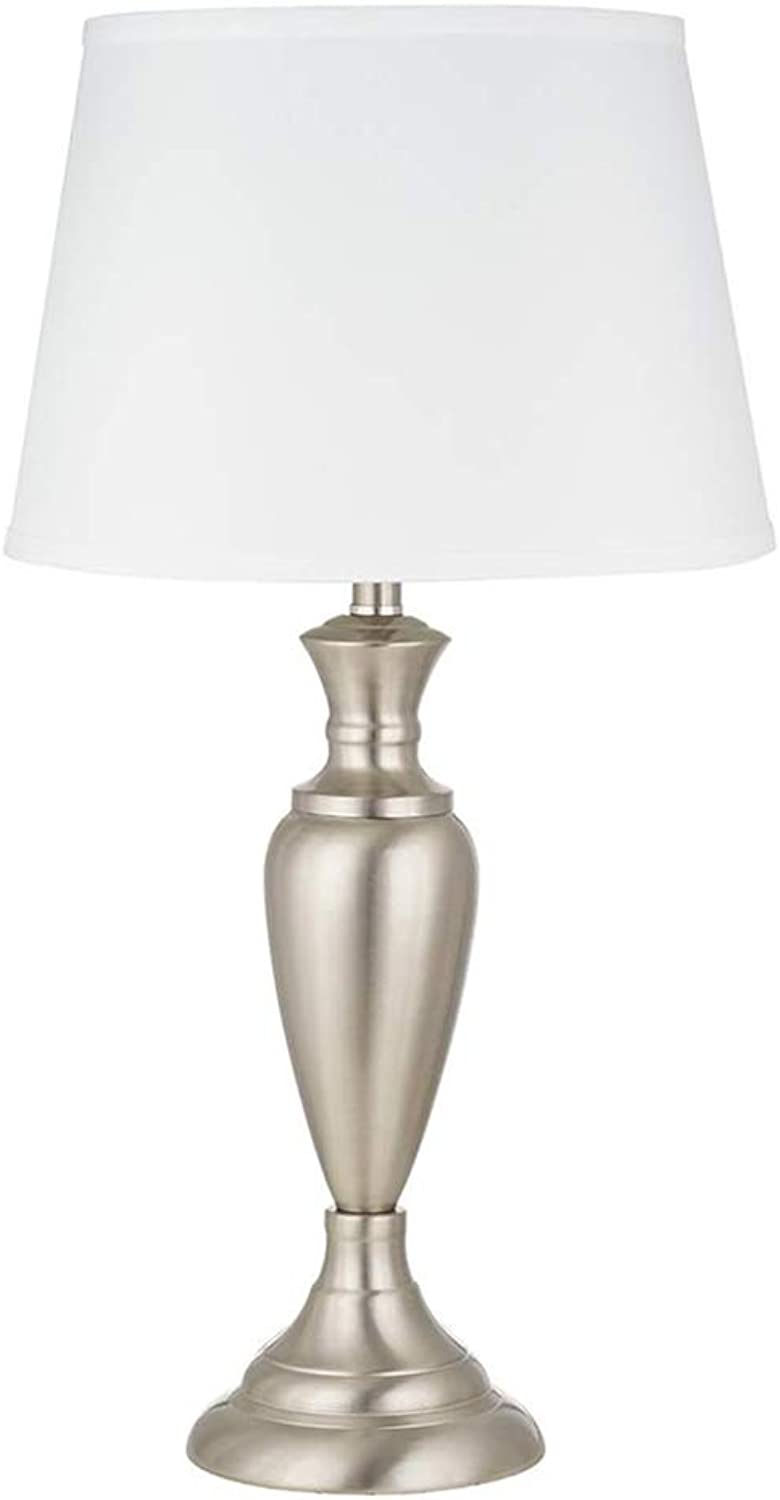 Ravenna Home Traditional Metal Buffet Table Lamp, 24.25 H, With Bulb, Brushed Nickel