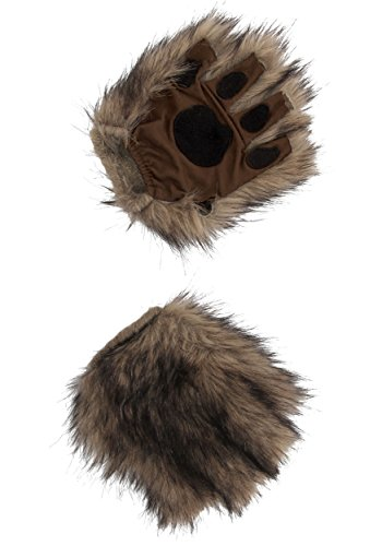 Brown Fingerless Squirrel Animal Costume Paws for Adults and Kids