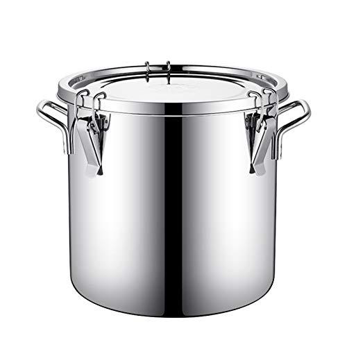 WKDZ Cubo con tapa de acero inoxidable 304 recipiente de gran capacidad sellado barril fermentación tanque leche/vino/aceite barril de transporte (tamaño : 50L)