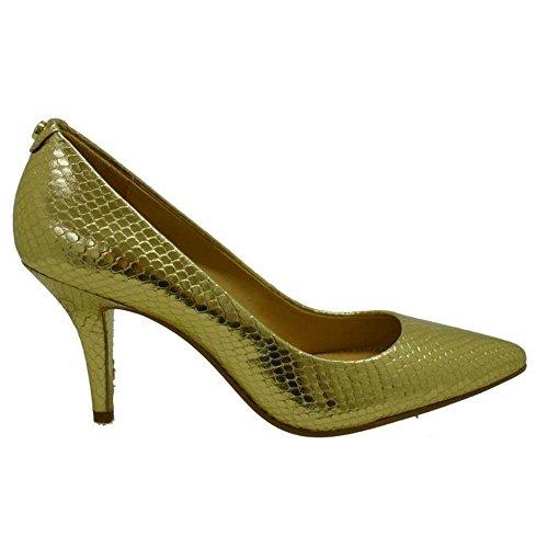 Zapatos Mujer Salones Peep_Toes Michael Kors MK-Flex Mid PUM Oro 36