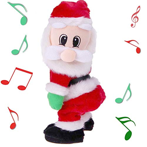 Yansanido Twerking Santa Claus - Twisted Hip, Singing and Dancing Electric Toy, Twisted Hip Santa Claus Figure Christmas Santa Claus Christmas Xmas Gift for Kids-Spanish Song