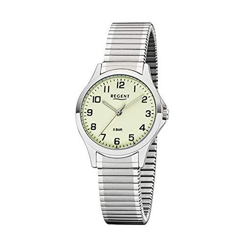 REGENT Damen-Armbanduhr analog Quarz Edelstahl-Zugband W-0070