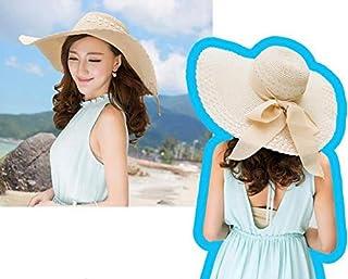 قبعة الشاطئ للنساء للصيف بعقدة شاطئ قبعة قش حافة واسعة