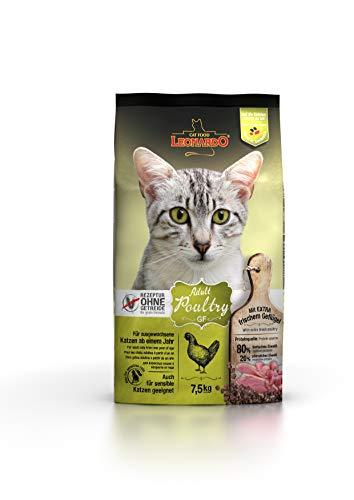 Leonardo Adult GF Poultry [7,5kg] Katzenfutter | Getreidefreies Trockenfutter für Katzen | Alleinfuttermittel für Katzenrassen ab 1 Jahr
