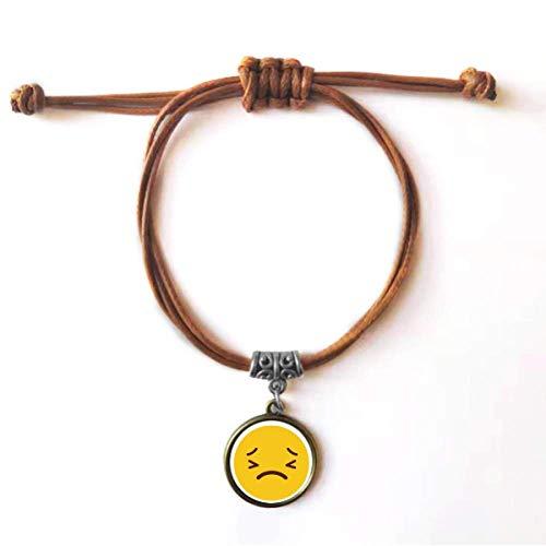 Diythinker - Reloj horrible, color amarillo con sonda de esclava en línea, tipo bonito y encantador, pulsera de cuero, doble pulsera para pareja