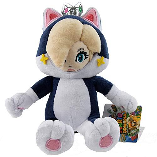 Yijinbo Gato Princesa Rosalina Super Mario Bros Peluche Animal Suave muñeca 8 Pulgadas