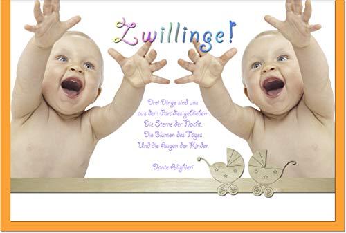 metALUm Karte zur Geburt von Zwillingen ZWEI BABYS | 1205010S