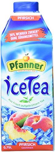Pfanner Eistee Pfirsich zuckerreduziert, 8er Pack (8 x 750 g)