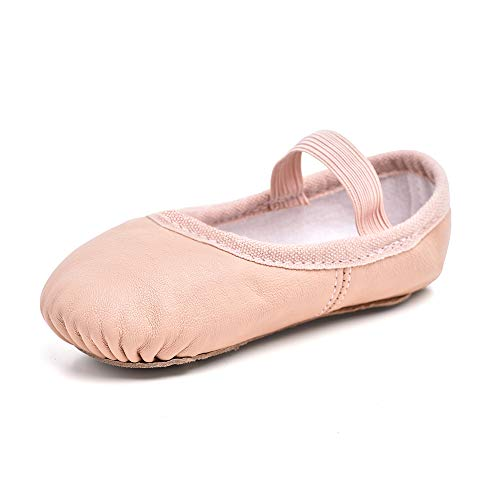 STELLE Premium Authentic Leather Ballet Slipper/Ballet Shoes (Toddler/Little Kid) (10MT, Ballet Pink)