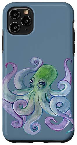 iPhone 11 Pro Max Watercolor octopus Art Case
