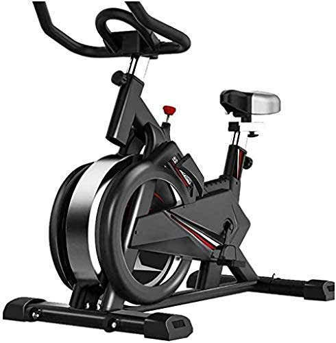 YLJYJ Ciclismo de Interior Bicicleta estática Bicicleta giratoria-Fitness Cardio Máquina de Entrenamiento para Adelgazar Resistencia Ajustable con Pantalla LCD para Mujeres y Hombres