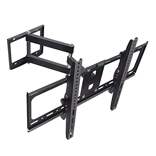 N/Z Home Equipment TV Mount Sturdy TV Mount Sturdy Wall Mount TV Bracket for 32 60' LED LCD OLED 4K Flat Curved TVs up to 50 kg Extendable Articulating Arm Tilt Swivel TV Mount Black