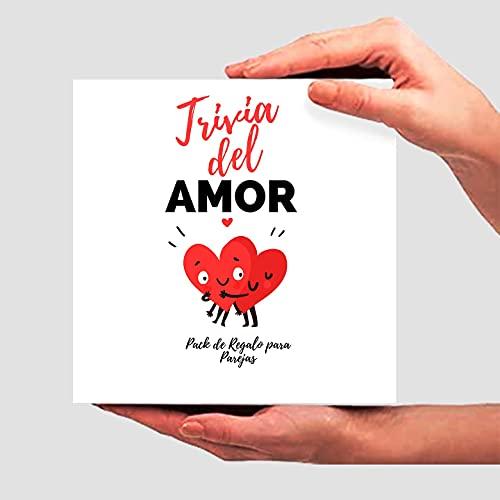 Trivia del Amor. Pack Regalo Parejas. Kit Regalo romántico para Parejas. Aniversarios, Novio, Novia, Parejas