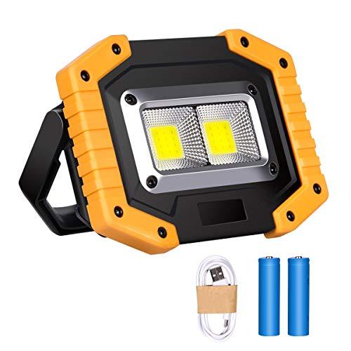 Luz de Trabajo LED Recargable, Luz de Inundación Portátil 30W USB, 3...