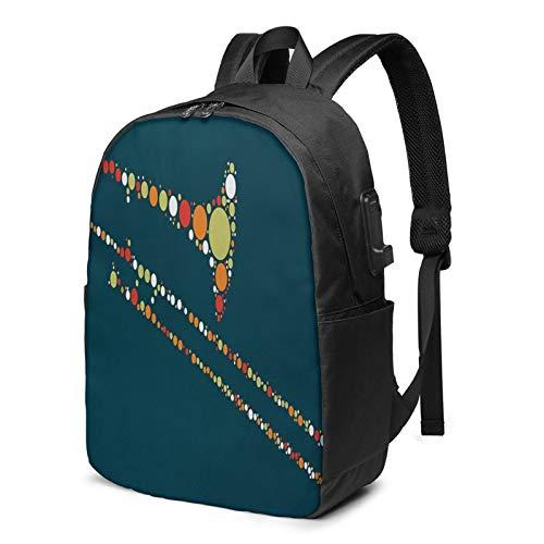 Laptop Rucksack Business Rucksack für 17 Zoll Laptop, Posaune Schulrucksack Mit USB Port für Arbeit Wandern Reisen Camping, für Herren Damen
