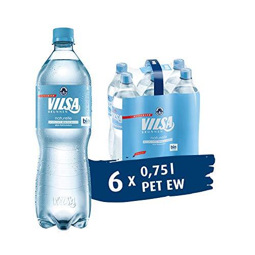 VILSA Mineralwasser naturelle, 6er Pack stilles Mineralwasser, natriumarm & ohne Kohlensäure, in Einwegflaschen (6 x 0,75 l PET)