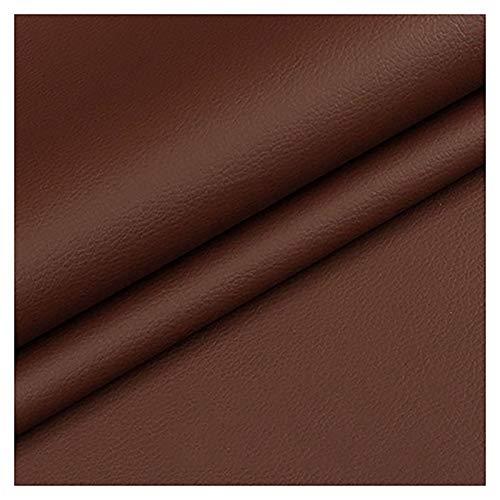 GERYUXA Piel para tapizarde Polipiel para tapizarl Ideal para Bolsos, Zapatos, Reparaciones, Decoraciones-Marrón 1.6x2m