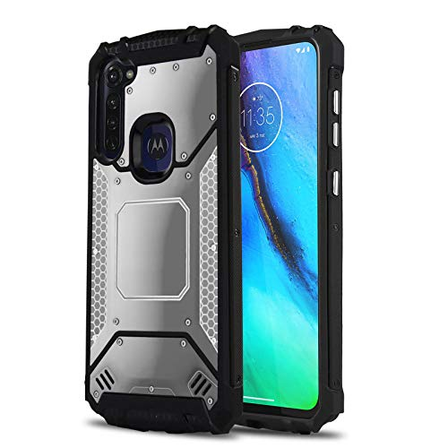 CaselandUSA Phone Case for Motorola Moto G Stylus, Aluminium Metal Plate Shockproof Military Grade Protective Cover for Motorola Moto G Stylus (Verizon, Metro, Ting, Mint, Simple Mobile) (Gun Metal)
