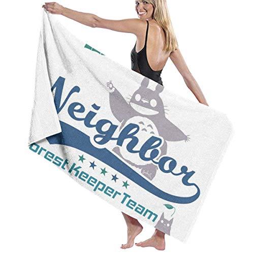 XCNGG Team Neighbor Totro Forest Keeper The Bath Towel Five Star Hotel Quality Toalla de baño Premium Collection Suave, Felpa y Altamente Absorbente (1 Toalla de baño de 31 x 59 Pulgadas)