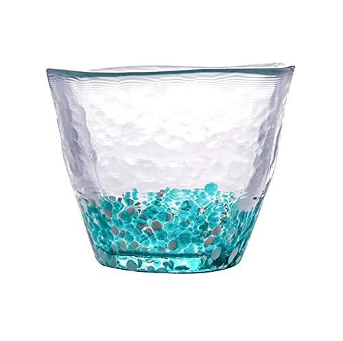 WANBAOAO Hermosamente Conjuntos de té de Colores, Taza de Jugo, Taza de Leche, Taza de Lunares, Muchos Estilos Disponibles, 8.2x7.0cm, 170 ml (Color: Rojo) (Color : Blue)