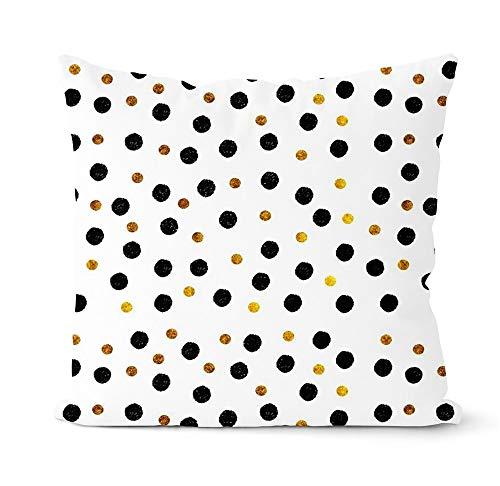 PPMP Funda de Almohada geométrica Gris y Negra, Almohada Decorativa para sofá, decoración del hogar, Funda de Almohada, Funda de cojín A7, 45x45cm, 2pcs