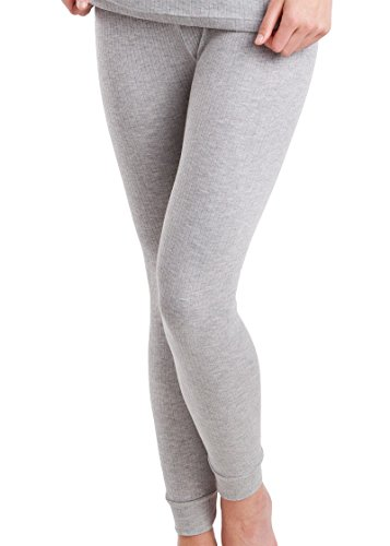 MT Damen Ski- & Thermohose - warme Unterwäsche lang mit Innenfleece - Sports Grey XL