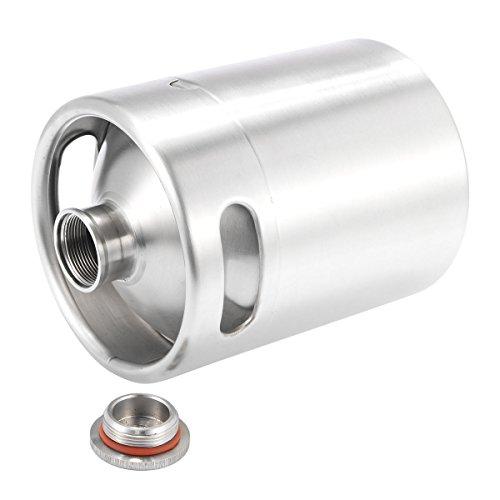 Industrial Hardware - Botella de acero inoxidable para hacer barriles de cerveza (2 L, 2 L)