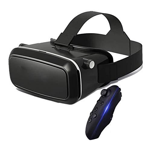 HKJZ SFLRW Realidad Virtual VR Auriculares Gafas 3D Cascos para Auriculares VR Gafas para TV, películas y Videojuegos Compatible iOS, Android y soporte4.0-6.0 Pulgada