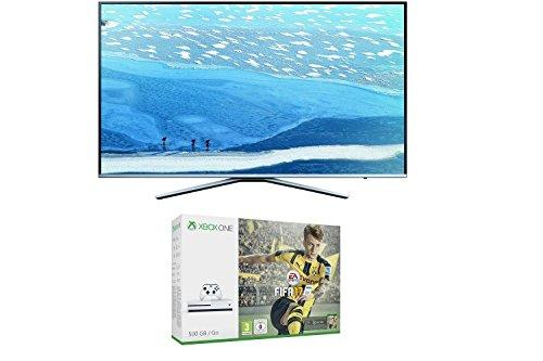Samsung UE55KU6409 55 Zoll Fernseher (UHD, Triple Tuner, Smart TV) + Xbox One S 500GB Konsole + FIFA 17
